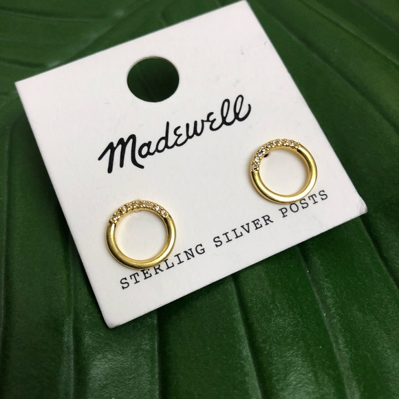 224de602f Madewell Jewelry | New Pav Circle Stud Earrings | Poshmark